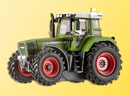 Viessmann 1166 Traktor FENDT mit Beleuchtung und gelbem Spur H0