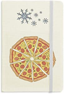Peppers Pizza Italy Tomato Foods Notebook Thick Journal Snowflakes Winter