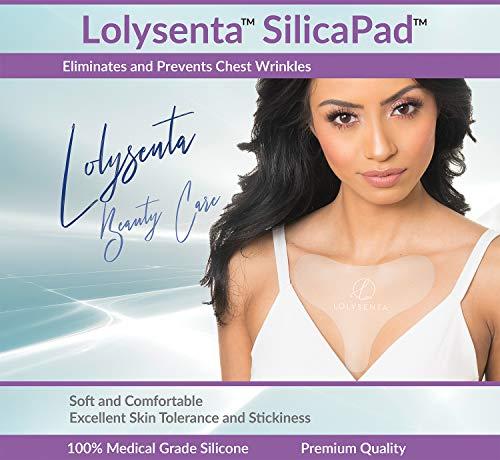 Lolysenta SilicaPad for Chest Wrinkles, Silicone Chest Wrinkle Pad for Chest Wrinkle Prevention, Anti Wrinkle Chest Pads, Wrinkle Patches for Chest Wrinkles