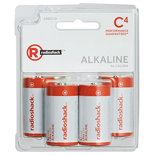 Radioshack C Alkaline Batteries (4-Pack)