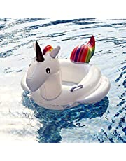 Summer Swimming Pool Floating Inflatable Unicorn Cartoon Baby Float Floating Row Rainbow Horse Kids Swim Ring-xx