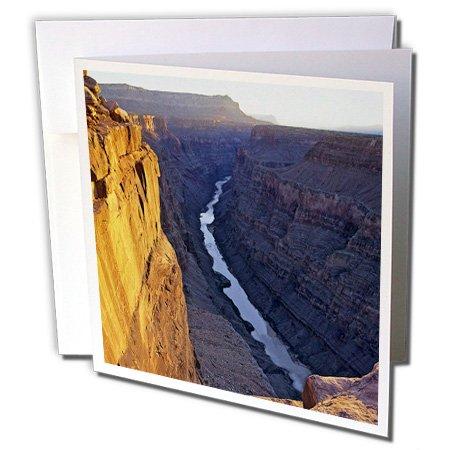 Canyon Greeting Cards - 3dRose Arizona, Grand Canyon NP, Colorado River - Greeting Cards, 6 x 6, Set of 12 (gc_87821_2)