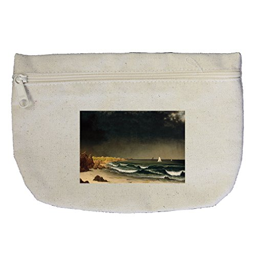 Approaching Storm Newport (Mj Heade) Canvas Makeup Bag Zippered Pouch ()