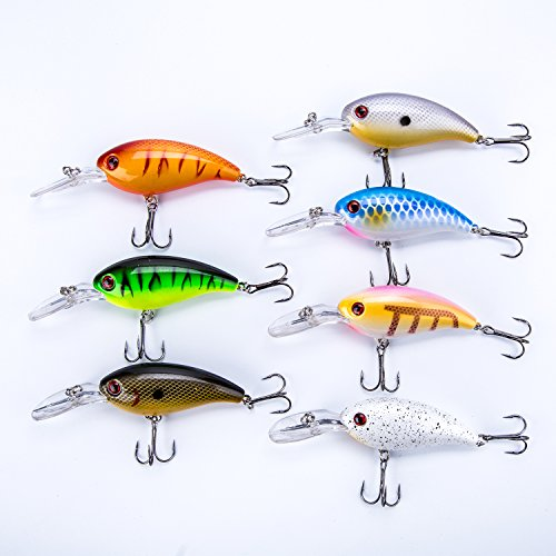 Mannerco Fishing Lures, Smooth Floating Bass Popper Lures Like Living Fish Swimming, Minnow Baits Hard Fishing Lures