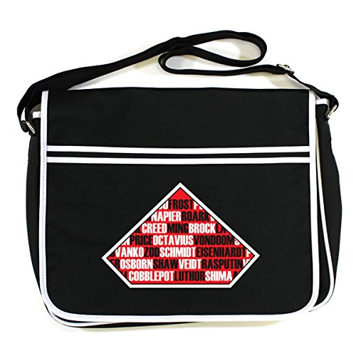 Bag Messenger Supervillains Various Retro Black CqtwX