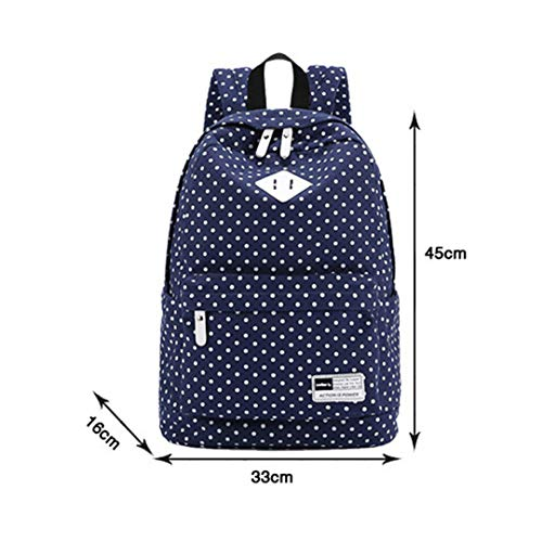 Printed Rucksack Polka Dot 15 Green 6 Bag Laptop inch xAYA06