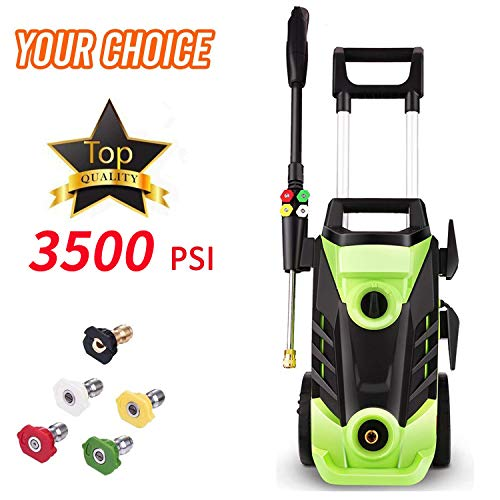 Homdox Electric High Pressure Washer 3500PSI 2.6GPM Power Pressure Washer Machine 1800W with Telescopic Hangle