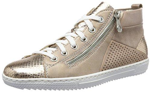 Kupfer Sneakers Rose Damen Mehrfarbig L9446 Hohe 91 Rieker Rosa Rose xwftUXqc