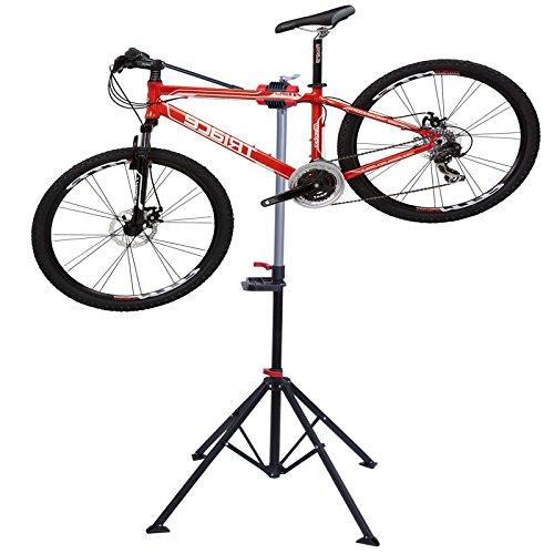 360°Fahrradmontageständer Fahrradständer Reparaturständer Montageständer Fahrrad-Wartung Schwarz