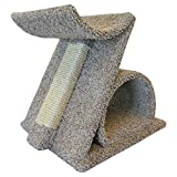 Wood Cat Perch Sisal Post Scratching Cat Furniture, Brown Carpet