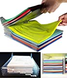 Closet Organizers, Clothe/T-shirt Folder Folding Board Transparent Adjustable Separate Board 10 PCS
