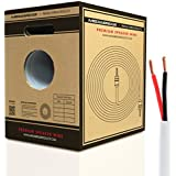 Mediabridge 14AWG Speaker Wire w/ Pull-Out Box (500, FT White) - 99.9% Oxygen Free Copper - CL2 for In-Wall (SW-14X2-500-WH)