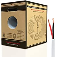 Mediabridge 14AWG Speaker Wire w/Pull-Out Box (500, FT White) - 99.9% Oxygen Free Copper - CL2 for In-Wall (SW-14X2-500-WH)