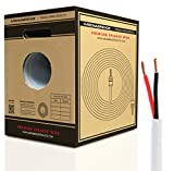 Mediabridge 14AWG Speaker Wire w/Convenient Pull-Out Box (500 Feet, White) - 99.9% Oxygen Free Copper - UL Listed CL2 Rated for in-Wall Use (Part# SW-14X2-500-WH)