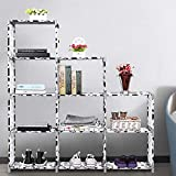 Hurbo 9 Cubes Large Quantity Children's Creative DIY Free Shape Waterproof Bookcase Reinforcement Combination Storage Rack Simple Bookshelf (US Stock) (9 Cubes)