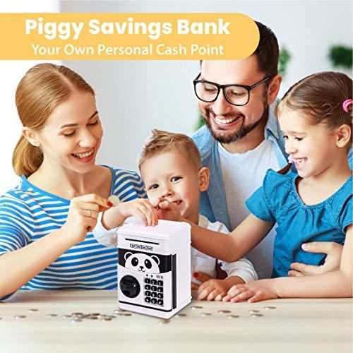 Bcamelys Piggy Bank for Boys and Girls, White Panda