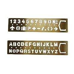 AKOAK 2 Piece Set Brass English alphabet...