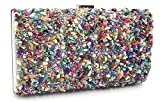 Revolin Rhinestone Acrylic Cocktail Clutch for Women Prom Party Evening Bags Purse