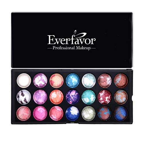 (21 Color Eyeshadow Palette, Everfavor Eye Shadow Makeup Palette Shimmer Eyeshadow Palettes Baked Eye Shadows Cosmetics Pallet with Galaxy Colors (21 Color, 04))