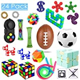 24 Pack Sensory Toys Set, Relieves Stress and Anxiety Fidget Toy for Children Adults, Special Toys Assortment for Birthday Party Favors, Classroom Rewards Prizes, Carnival, Piñata Goodie Bag Fillers: more info