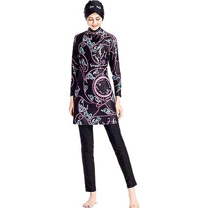 3917a7e9effd4 Amazon.com: Palalibin Muslim Swimsuits for Women Girls - Swimwear Swimming  Costume Surfing Full Body Modest Islamic Modesty Burkini(S,Black): Car ...