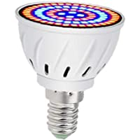 Grow Light Bulb 60 LEDs E14 Plant Growth Full Spectrum Plant Horticultural Lamp 220V Indoor for Indoor Plants Succulents…