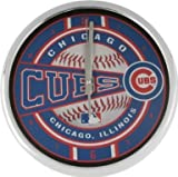 The Memory Company MLB Chicago Cubs Official Chrome Clock, Multicolor, One Size