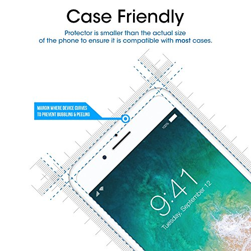 "iPhone 8 Plus, 7 Plus, 6S Plus, 6 Plus Screen Protector, amFilm Tempered Glass Screen Protector for Apple iPhone 8 Plus, 7 Plus, iPhone 6S Plus, 6 Plus [5.5""inch] 2017, 2016, 2015 (2-Pack)"