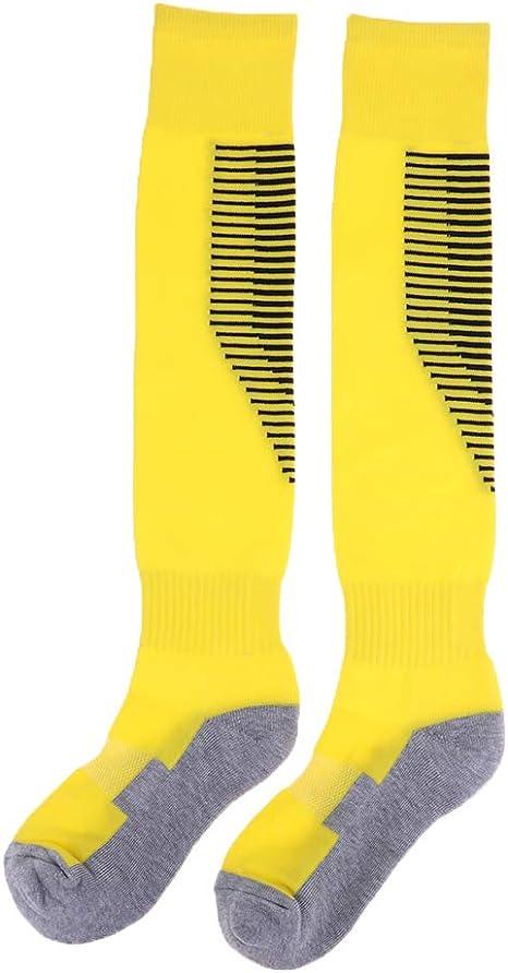 IPOTCH 1 Par de Calcetines de Fútbol de Algodón Antideslizante para Hombre Medias de Fútbol - Amarillo: Amazon.es: Deportes y aire libre