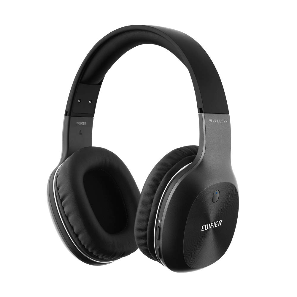 Edifier W800BT Bluetooth Headphones Over Ear, Wireless Noise Isolating Hi-Fi Stereo Headset for Travel Work Sports Tablet Cell Phones- Black