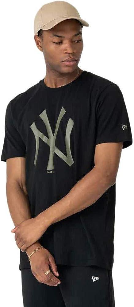 New Era Camiseta Hombre MLB Seasonal NY Negra