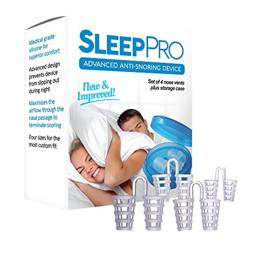 SleepPro Anti Snoring Nose Vents - Top Rated Anti Snore Device - The Snoring Solution That Is 100% Natural, Simple, And Effective - Stop Snoring Instantly The Healthy Way!