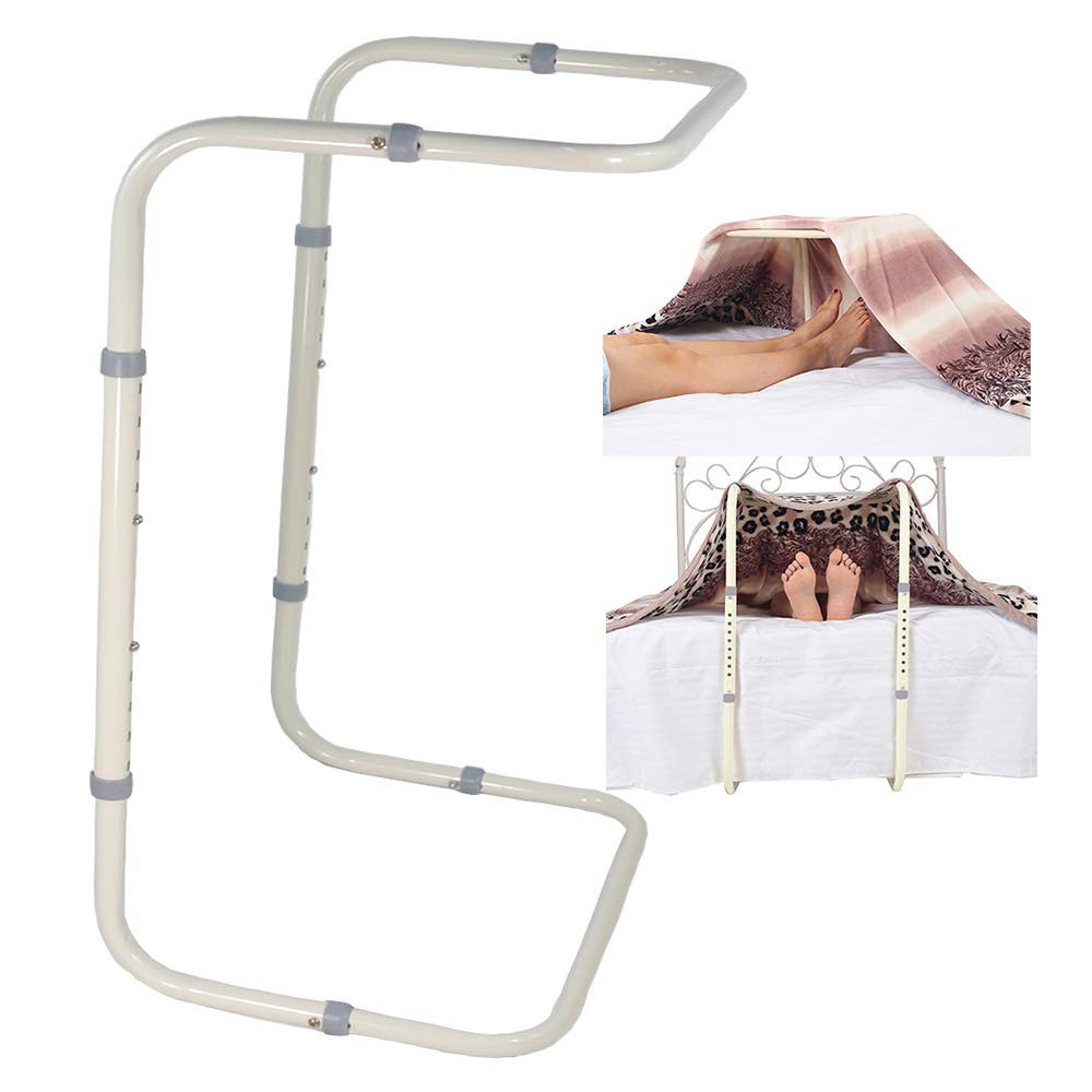 Blanket Lifter for Feet Lift Bar Sheet Riser Foot Tent Blanket Support Holder 26-34'' Adjustable Bed Cradle Assistance Device Hospital Bed Rail Accessories Leg Knee Ankle Post Surgery Recovery by Zelen