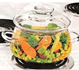 Heat Resistant Glass Transparent QT Casserole Pot