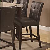 Coaster Home Furnishings Casual Counter Height Chair,  Cappuccino/Brown