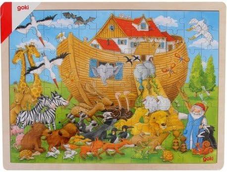 Goki Juego de Mesa Puzzle DE Madera 96 Piezas Modelo Arca DE NOÉ ...
