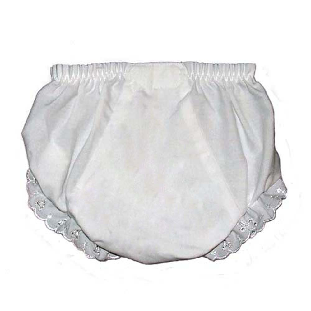 Baby Diaper Covers Embroider Blank Bloomers- White - 6 months i Craft for Less FBA_DCBSz1