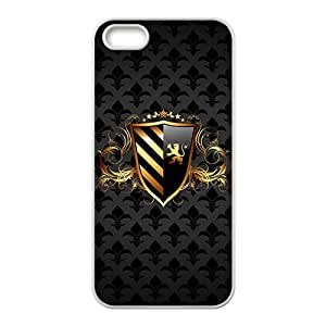 SKULL Black Duck Gold Badge Custom Protective Hard Phone Cae For Iphone 5s hjbrhga1544