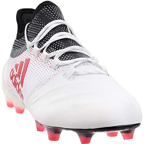 adidas Mens X 17.1 Firm Ground Leather Soccer Athletic Cleats, White, 10