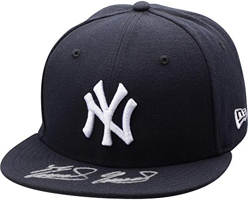 Domingo German New York Yankees Autographed New Era Baseball Cap - Fanatics Authentic Certified - Autographed MLB Hats ()