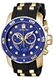 インヴィクタ Invicta Watches Mens Pro Diver Chronograph Polyurethane Band Watch (Gold/Black) [並行輸入品]