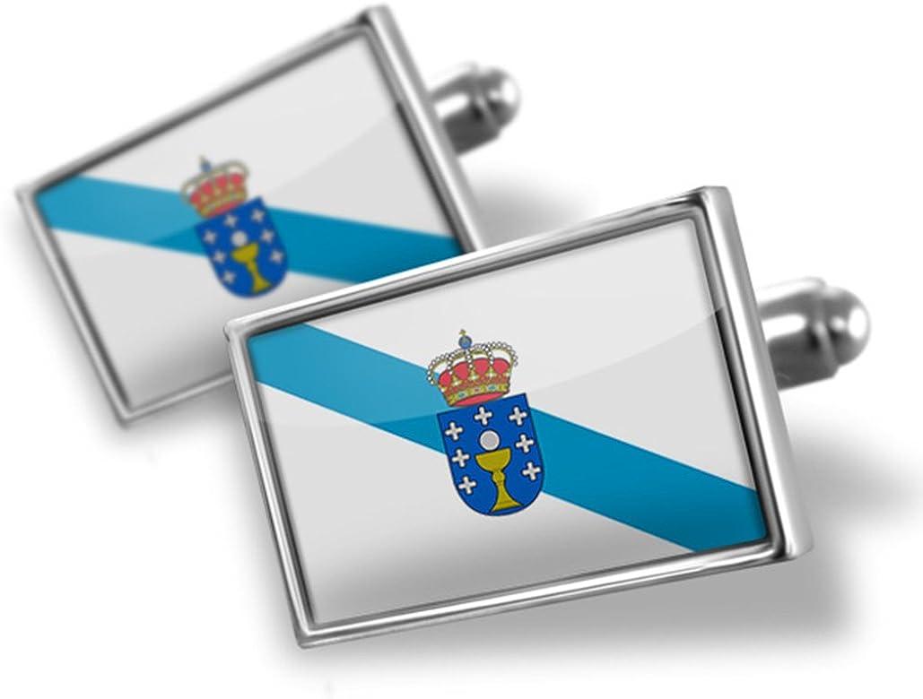 Gemelos bandera de Galicia región: España – Neonblond: NEONBLOND: Amazon.es: Joyería