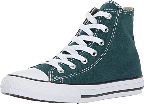 Converse Kids' Chuck Taylor All Star High Top Fashion Shoe, DARK ATOMIC TEAL Size 2Y -