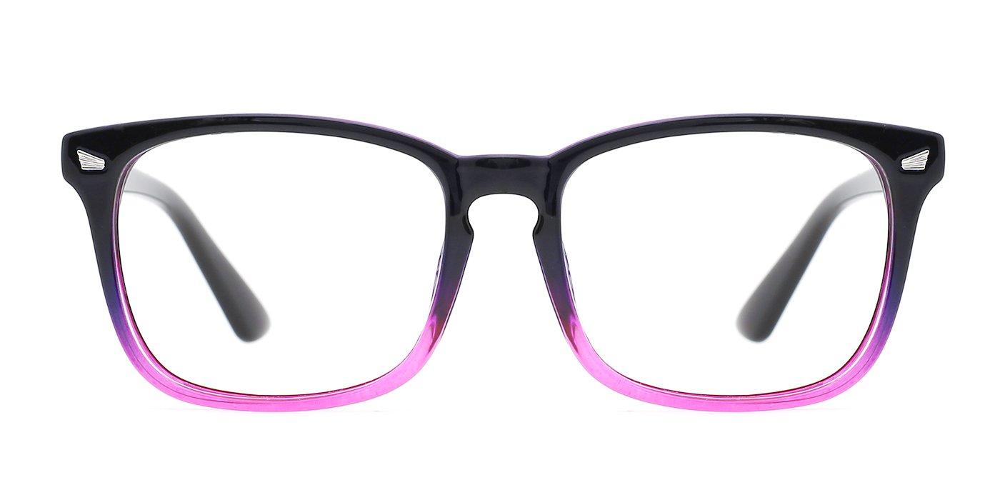 5c1273c9776 TIJN Stylish Wayfarer Non-prescription Glasses Eyeglasses Frame for Women  Men