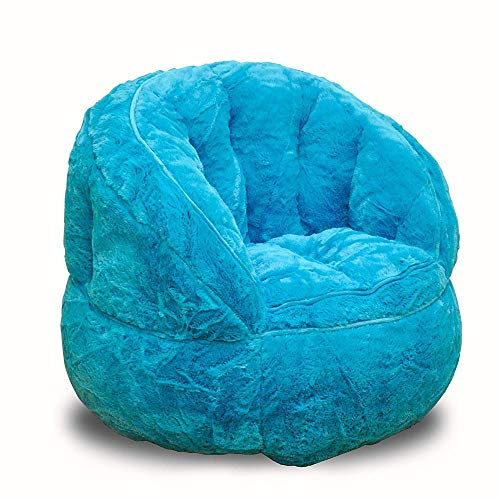 Indipartex Jr Bean Bag Chair Toddler Rabbit Fur Bean Bag Chair Soft and Cuddly Rabbit Fur Fabrication 100% Polyester - Ideal for Toddlers and Small Children Poly Bean Filling for ()