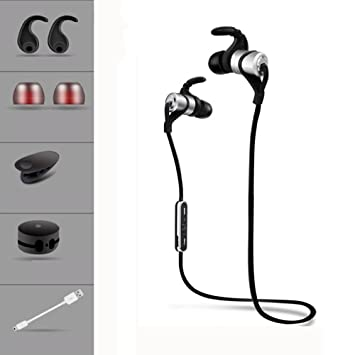 TAB Auriculares inalámbricos Deportivos,4.1 Bluetooth, HiFi HD Estéreo para Correr Conducción de gimnasios