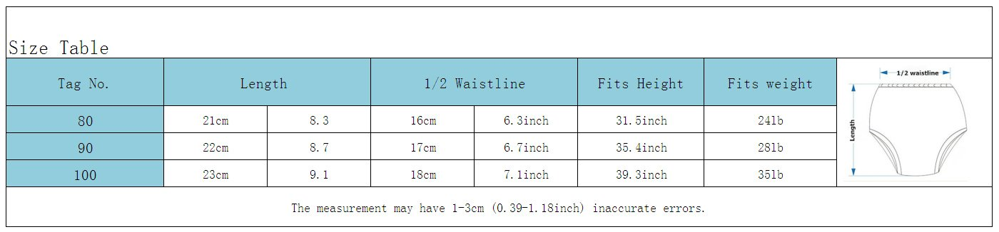 Baby Boys Training Underwear Pants Cartoon Cotton Trainers Washable Diaper Underpants Pack of 4 Size 100 Joyo roy JR001016