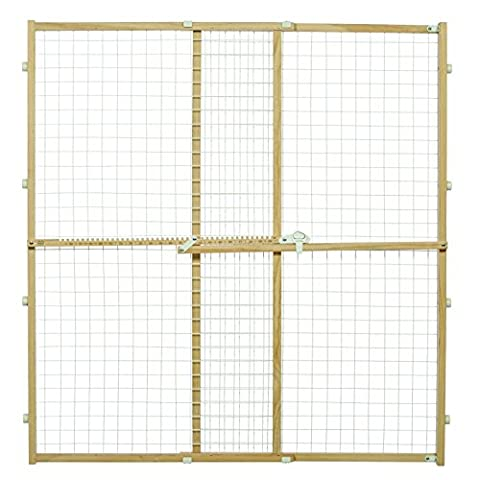 MidWest Wire Mesh Pet Safety Gate, 44 Inches Tall & Expands 29-50 Inches Wide - Woods Mesh