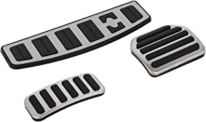 ROADFAR Drill Free Aluminum Fuel Accelerate Brake at Pedals Covers Compatible with 2005-2016 Range Rover AT LR3/LR4 Discovery 3/4 Sport(L320) at Metal Aluminum Fuel Sports Pedal Full Set Accel