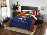 New York Islanders - 3 Piece FULL/QUEEN SIZE Printed Comforter & Shams - Entire Set Includes: 1 Full/Queen Comforter (86'' x 86'') & 2 Pillow Shams - Hockey Bedding Bedroom Accessories